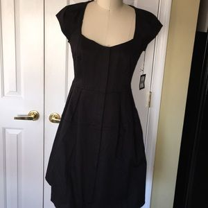 Nanette lepore nwt structured zip up flare LBD